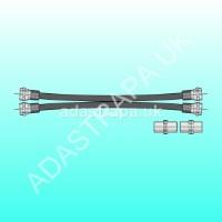 av:link 112.023  Twin RG6 Satellite Extension Kit