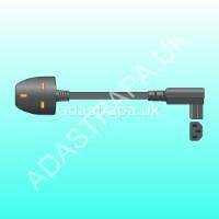 Mercury 114.023  UK Plug to Right Angle IEC Power Lead