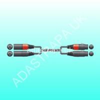 Chord 190.031 2XF-2XM600 Classic 2 XLRM to 2 XLRF Lead
