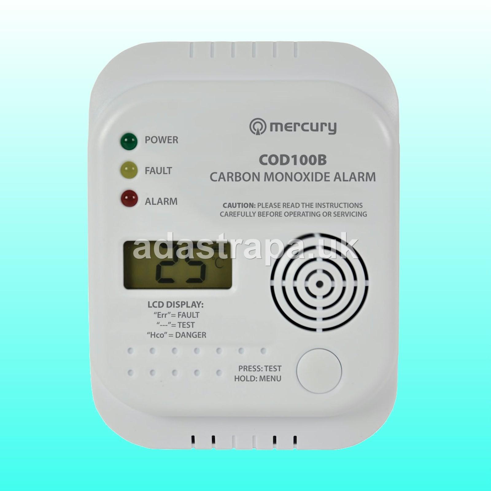 Mercury 350.135 COD100B Carbon Monoxide Alarm