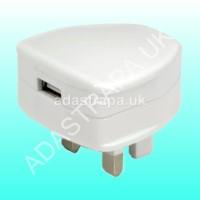 Mercury 421.743 USB-UK121v2 Compact USB Mains Charger