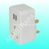 Mercury 429.690 Plug Through UK Mains Adaptor