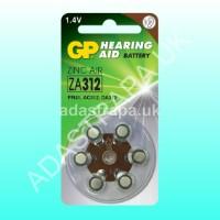 GP 656.788  ZA312 (PR41) Zinc Air Batteries