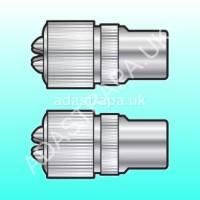 av:link 765.739  Nickel Plated Precision Coaxial Plug