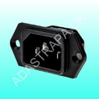 Mercury 776.247  Heavy Duty Right Angle IEC Socket