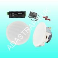 Adastra 953.139 SL4-BT Ceiling Speakers and Amplifier Package